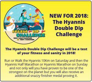 Hyannis Marathon, Double Dip Challenge, New England Marathons Winter