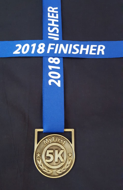 My First 5K Medal 2018, 5k medals, medals for my kids