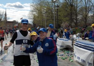 Boston Marathon Water Stop, Andy Nagelin, HP