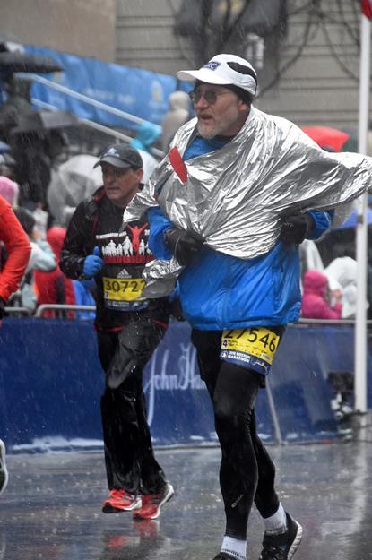 My 2018 Boston Marathon Experience, Boylston Street, Rain