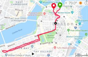 Martin Richard 8K Map, Boston 5 Mile Race