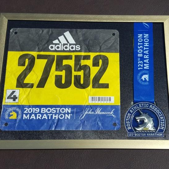 Boston Marathon 2019 running medal frame