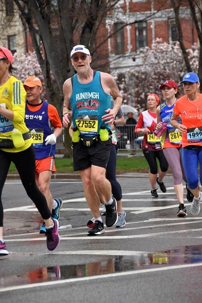 2019 Boston Marathon, Comm Ave onto Hereford Street
