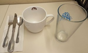 cup, glass and utensils; recycling