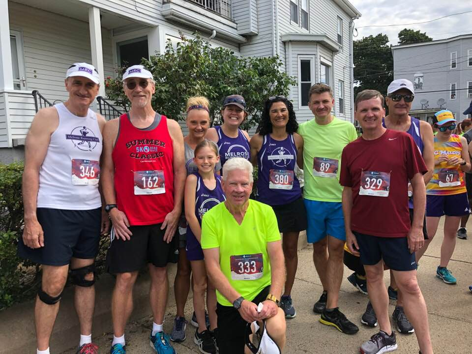 Melrose Running Club at 2019 Malden Irish American Road Race