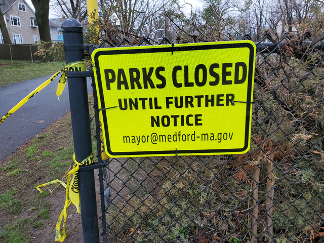 What I Think about when I Work from Home, Medford Park Closure