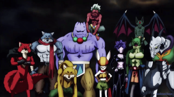 Dragon Ball Super all 8 Universes in the Tournament of Power