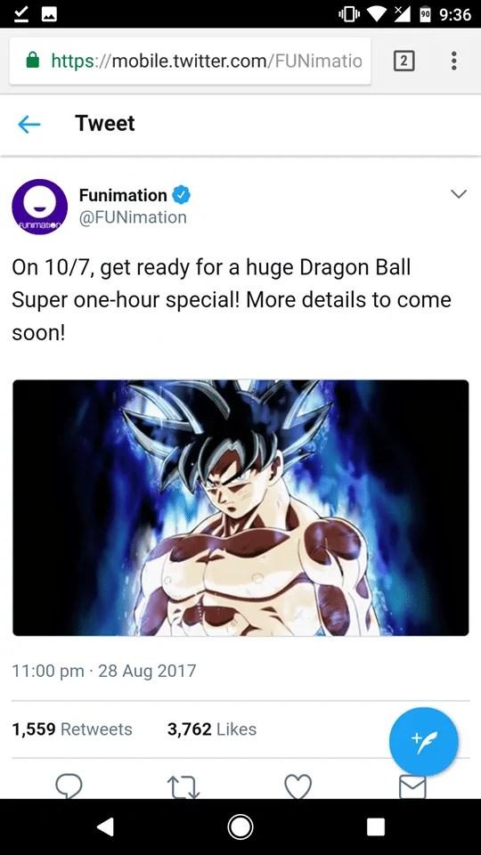 Dragon Ball Super 1 hour episode