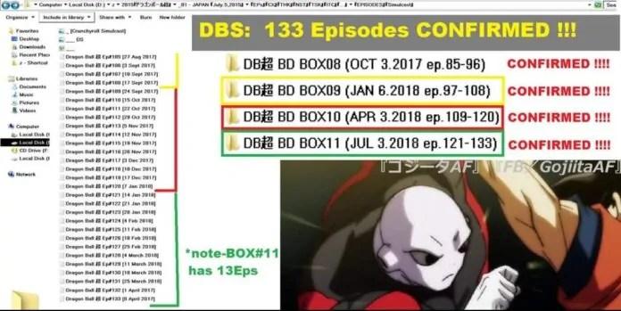 dragon ball super 133 episodes