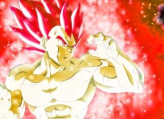 Vegeta Super Saiyan God in Dragon Ball Super Movie