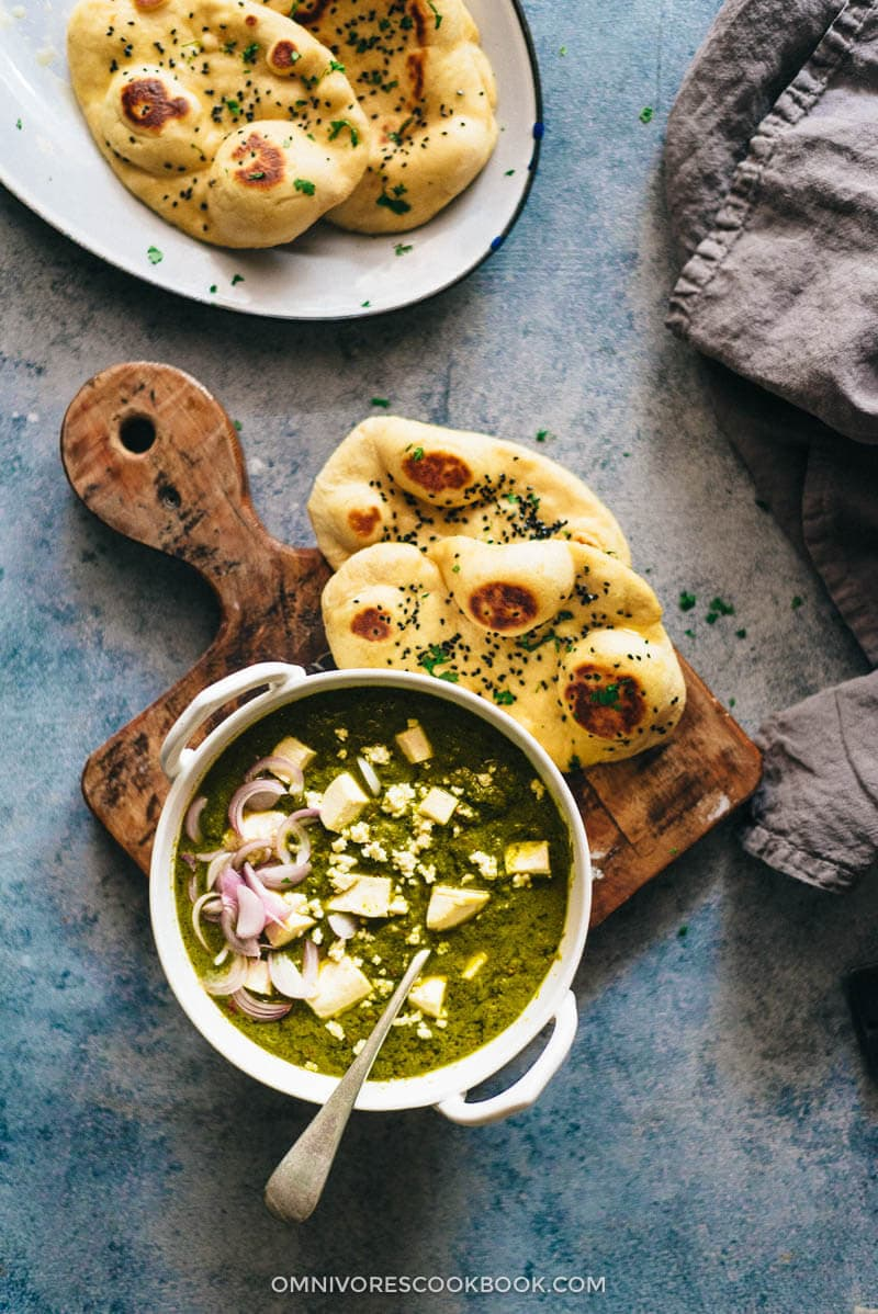 Palak Paneer Recipe  Spinach Curry with Cheese    Cooking in an     Palak Paneer Recipe  Spinach Curry with Cheese  with tips on homemade paneer    Gluten