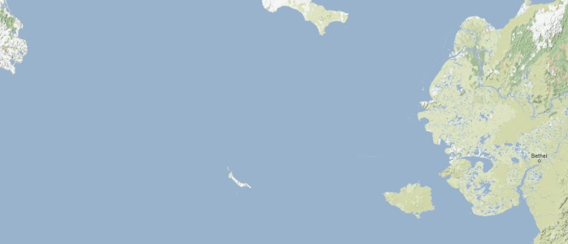 Part of the Bering Strait (from Google Maps)