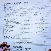 Cowabunga Food Truck's New Menu