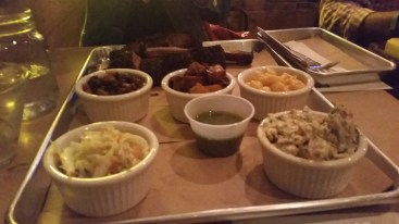 BBQ sides and ribs at Hoodoo Brown BBQ in Ridgefield, CT