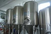 Brew tanks at Kent Falls Brewing