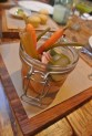Pickle jar at Back 40 Kitchen in Greenwich CT