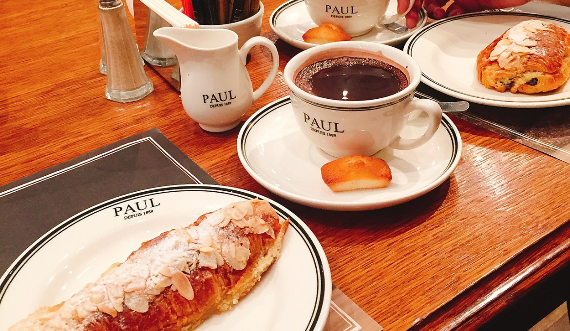 Almond Croissant Hunt at Paul Cafe