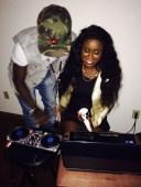 my fake aburo, DJ Ayo and i at a kickback