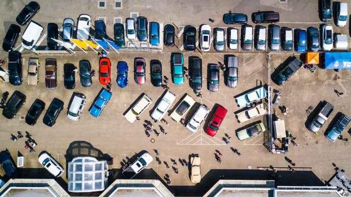 駐車場穴場混雑