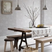 Dark-and-light-wood-dining-trestle-table-and-benches-Country-Homes-and-Interiors-Housetohome