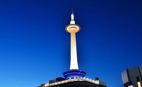 3/14から京都タワーが未来を感じさせる美しいLED照明に