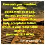 Romans 12 : 1