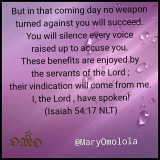 Isaiah 54:17