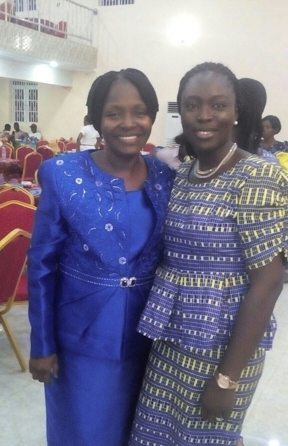 Prof. and I at her Inaugural Lecture Reception