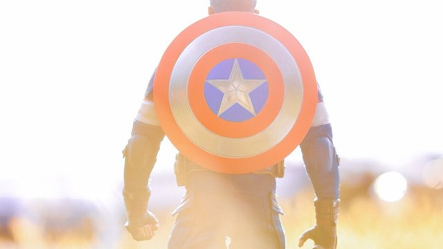 キャプテンアメリカのフィギュア写真