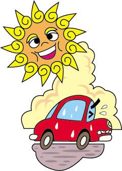 車も日焼けする?