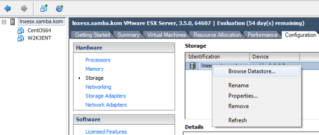 Browse Data Storage