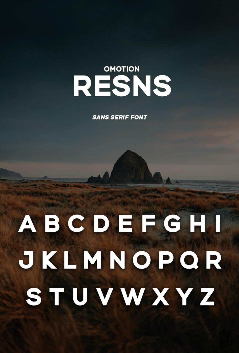 omotion Resns Free Sans Serif Font