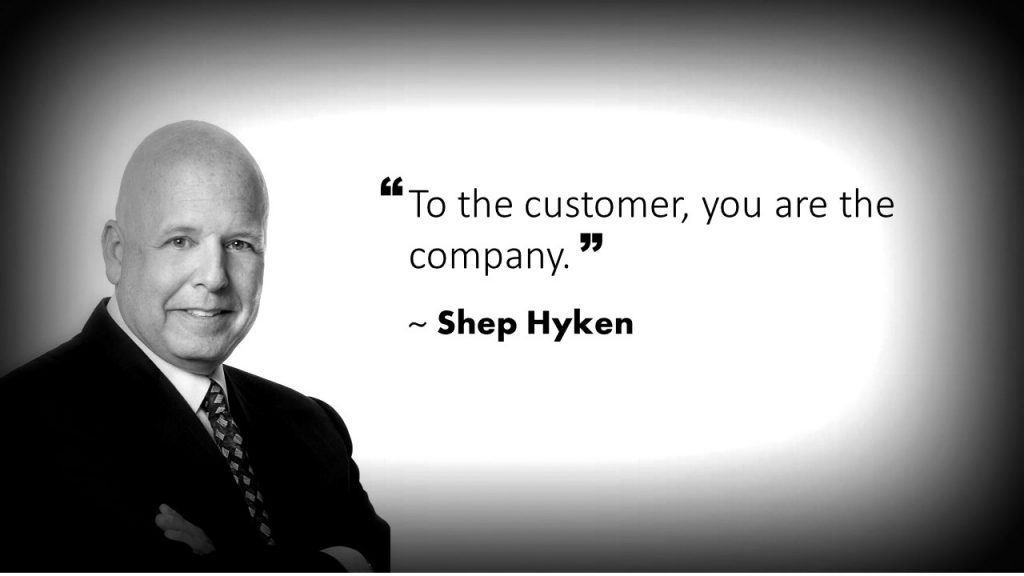 Shep Hyken Customer Service Quote