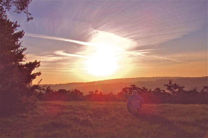 Sunrise in the Ashdown forest