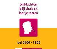 0800-1202, landelijk nummer voor testafspraak coronavirus