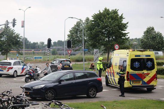 Fietser gewond na ongeval met personenauto in Stad