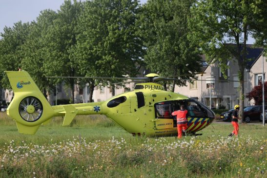 Traumahelikopter ingezet ivm incident in woning in Stad