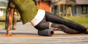 Leg rolling with Om Roller 4-inch roller
