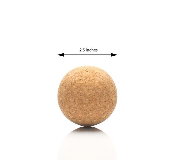 Cork acupressure ball dimensions