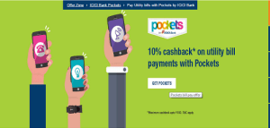 ICICI Pocket Bill Recharge Offer