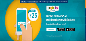 icici pockets app offer