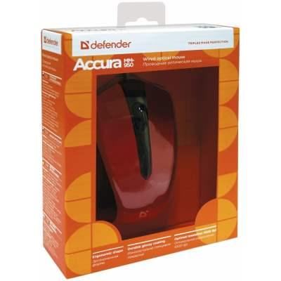 Мышь Defender MM-950 Red USB