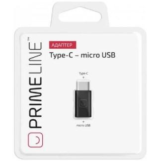 Адаптер PrimeLine Micro-USB - USB Type-C