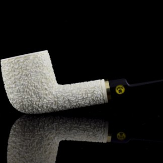 OMS Meerschaum Rusticated Billiard