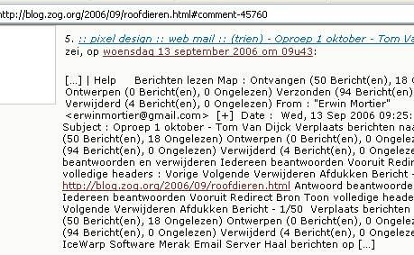 Screenshot blog.zog.org