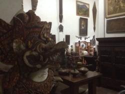 A wooden Garuda statue