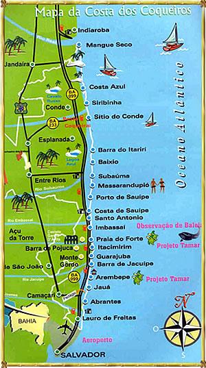 Mapa do Acesso a Linha Verde
