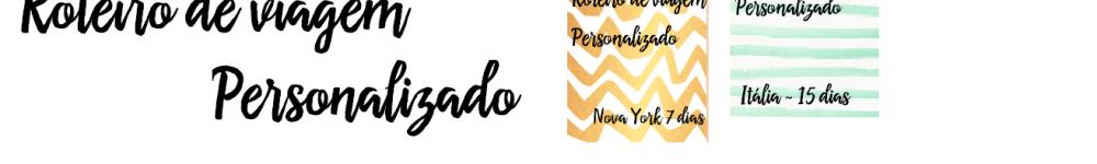 Roteiros Personalizados