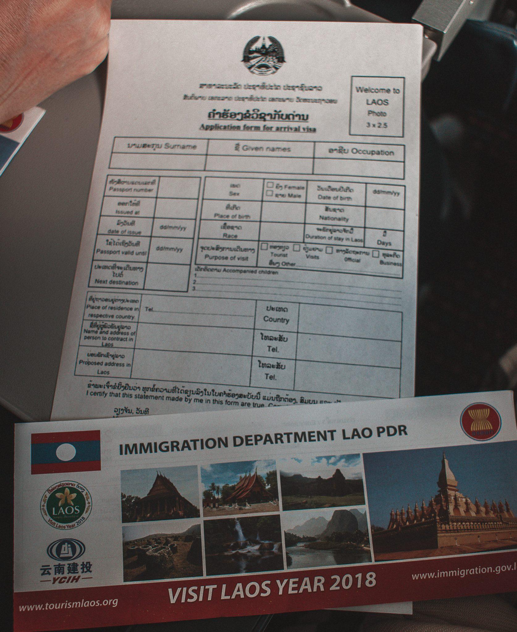 Visto de viagem do Laos