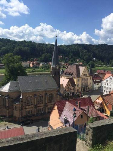 Stadt Wehlen in der Saechsischen Schweiz
